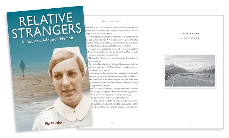 Relative Strangers cover and page spread
