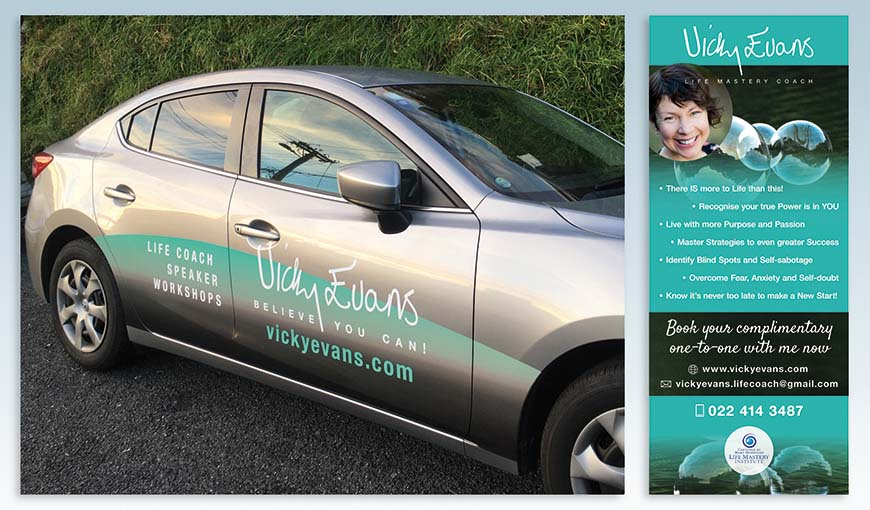 Vick Evans vehicle and banner branding2
